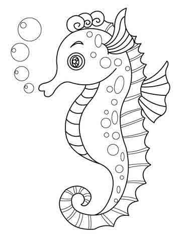 Рисуем морских обитателей с детьми - подборка рисунков (22)