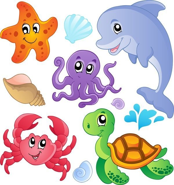 Рисуем морских обитателей с детьми - подборка рисунков (3)