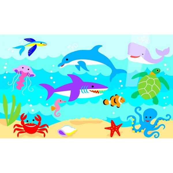 Рисуем морских обитателей с детьми - подборка рисунков (4)