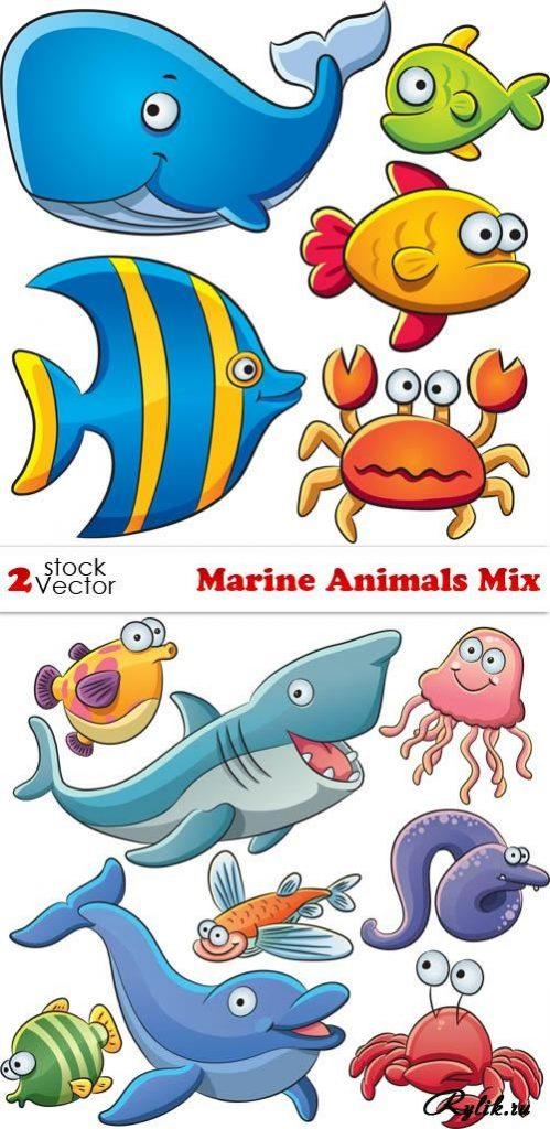 Рисуем морских обитателей с детьми - подборка рисунков (5)
