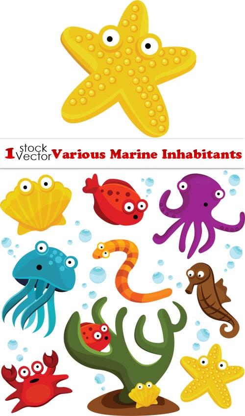 Рисуем морских обитателей с детьми - подборка рисунков (8)