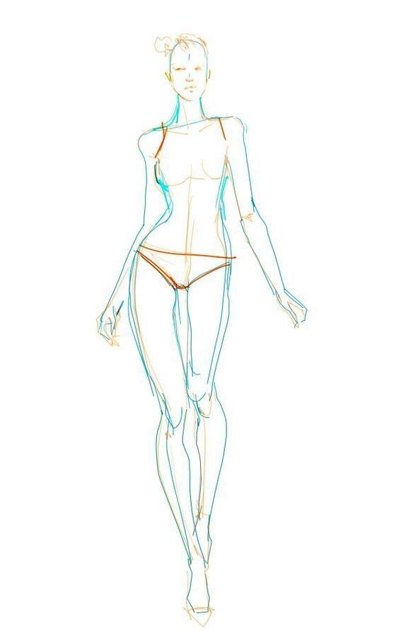 Рисунки в полный рост девушки (1)