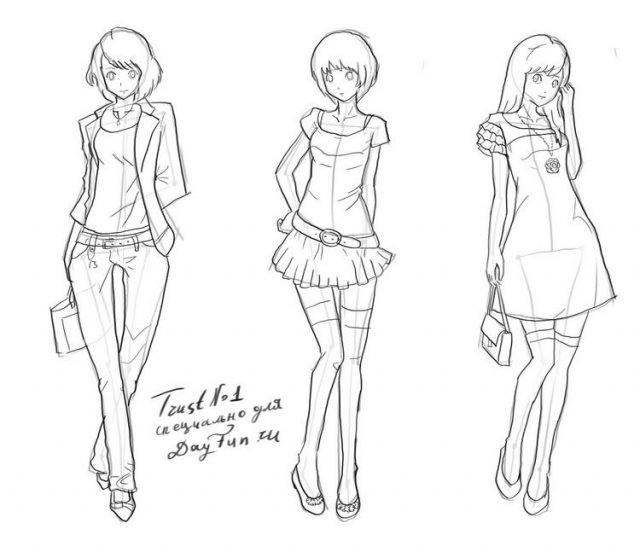 Рисунки в полный рост девушки (13)
