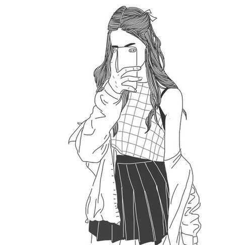 Рисунки в полный рост девушки (20)