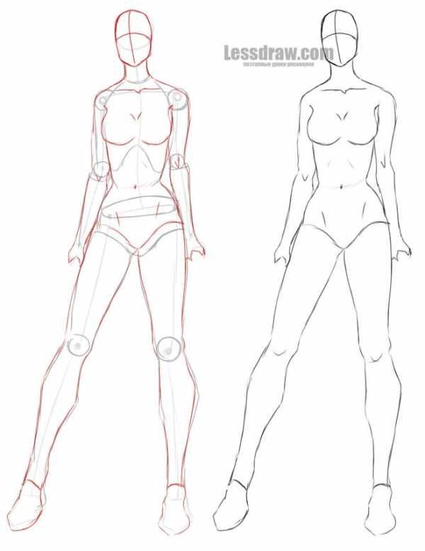 Рисунки в полный рост девушки (23)