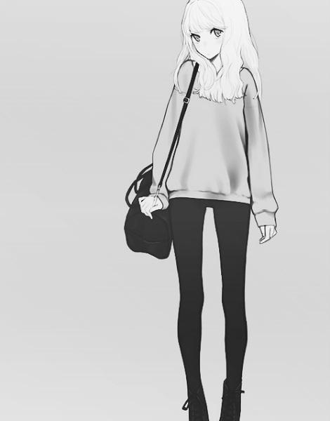 Рисунки в полный рост девушки (4)