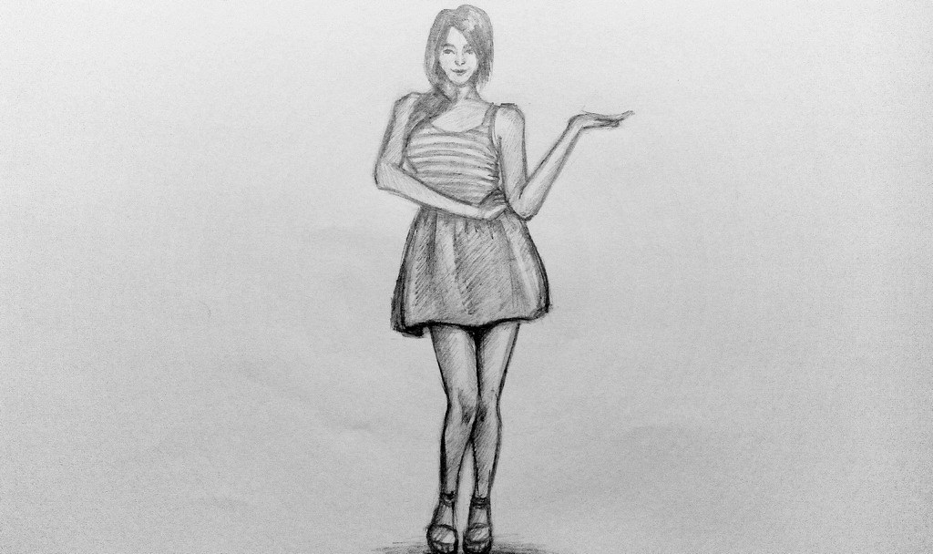 Рисунки в полный рост девушки (5)
