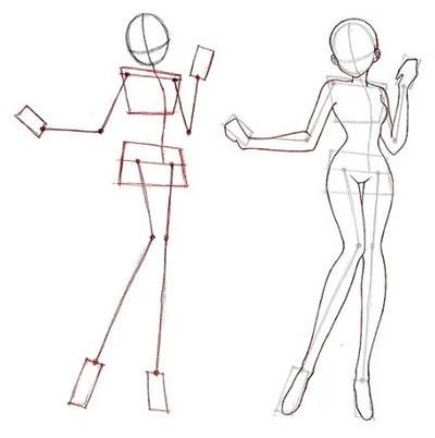 Рисунки в полный рост девушки (9)