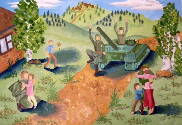 Рисунки на 9 мая день победы - подборка (16)