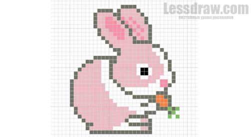 Рисунки по клеточкам животные милые (19)
