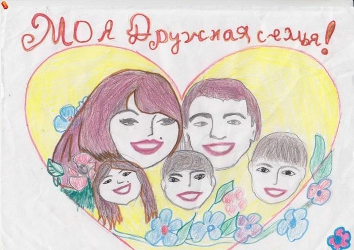 Рисунок моя семья в школу (13)