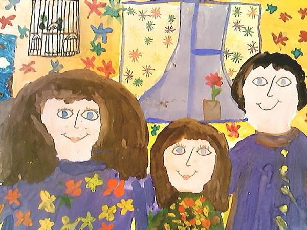 Рисунок моя семья в школу (14)