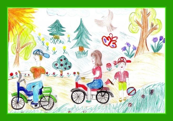 Рисунок моя семья в школу (17)
