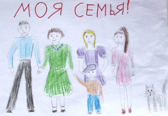 Рисунок моя семья в школу (2)