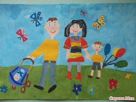 Рисунок моя семья в школу (4)