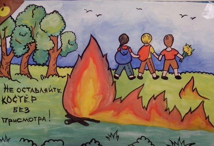 Рисунок противопожарная безопасность для детей (11)