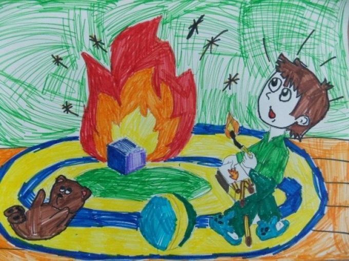 Рисунок противопожарная безопасность для детей (4)