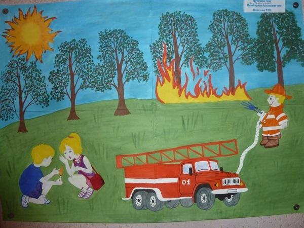 Рисунок противопожарная безопасность для детей (8)