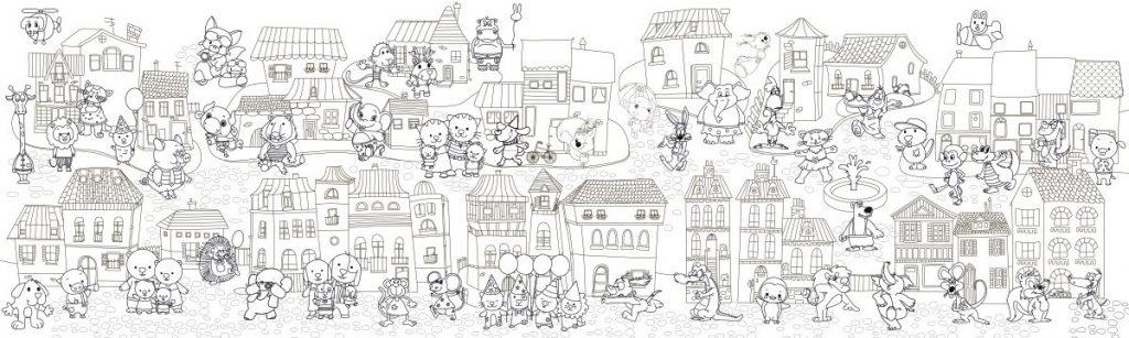 Сказочный город раскраски - подборка (1)
