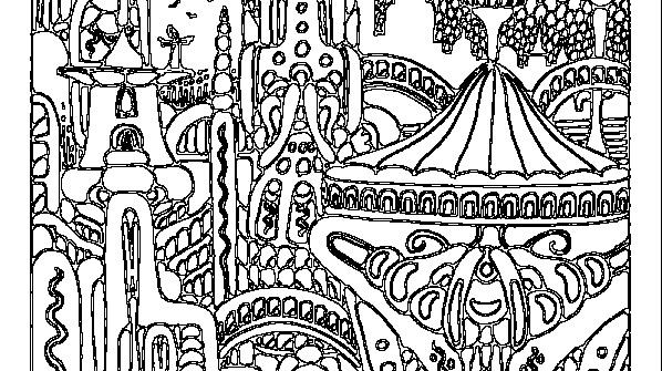 Сказочный город раскраски - подборка (11)