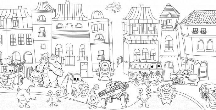 Сказочный город раскраски - подборка (13)