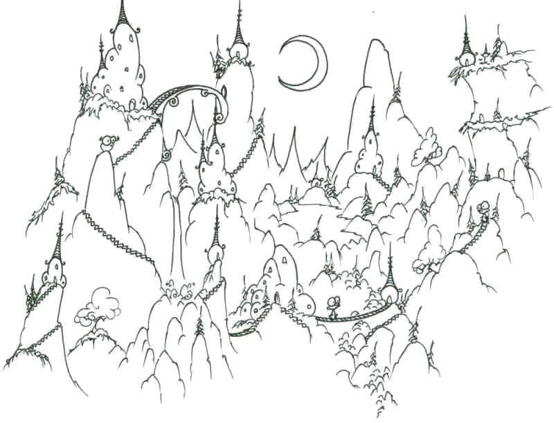 Сказочный город раскраски - подборка (14)