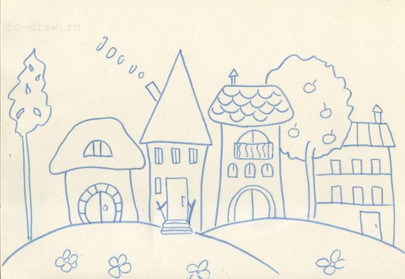Сказочный город раскраски - подборка (15)