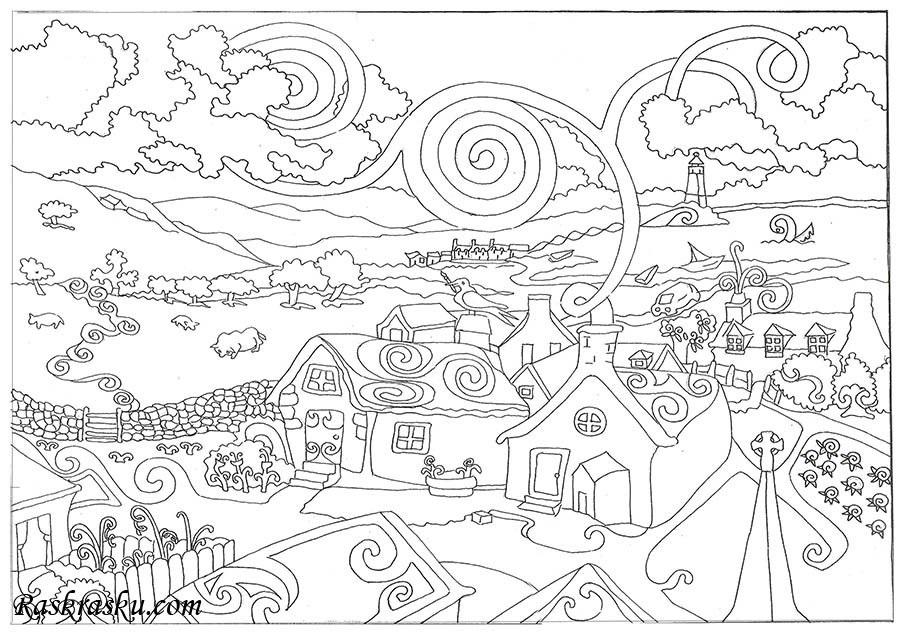 Сказочный город раскраски - подборка (18)