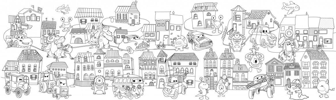 Сказочный город раскраски   подборка (4)