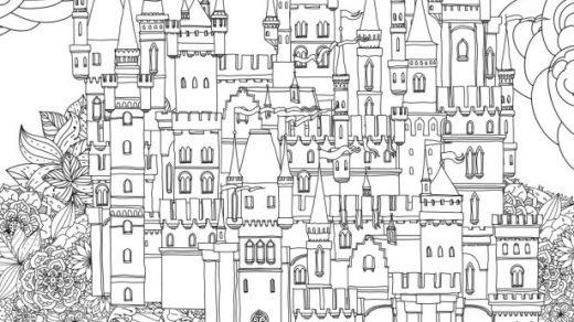Сказочный город раскраски   подборка (6)