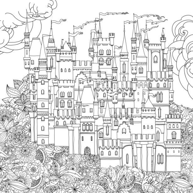Сказочный город раскраски - подборка (6)