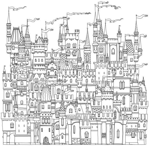 Сказочный город раскраски - подборка (9)