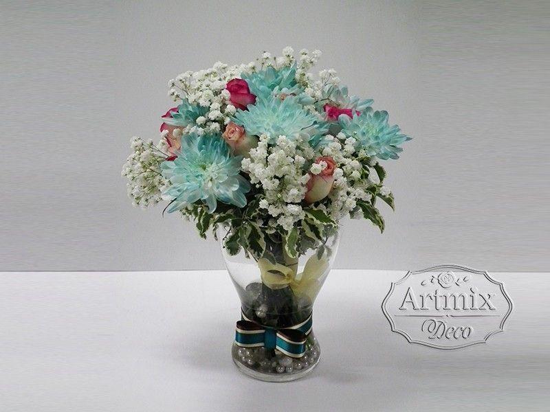 Современные букеты из живых цветов (1)