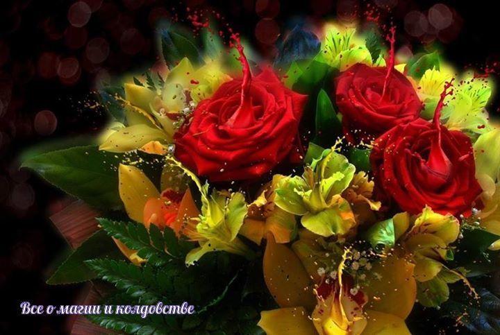 Современные букеты из живых цветов (10)