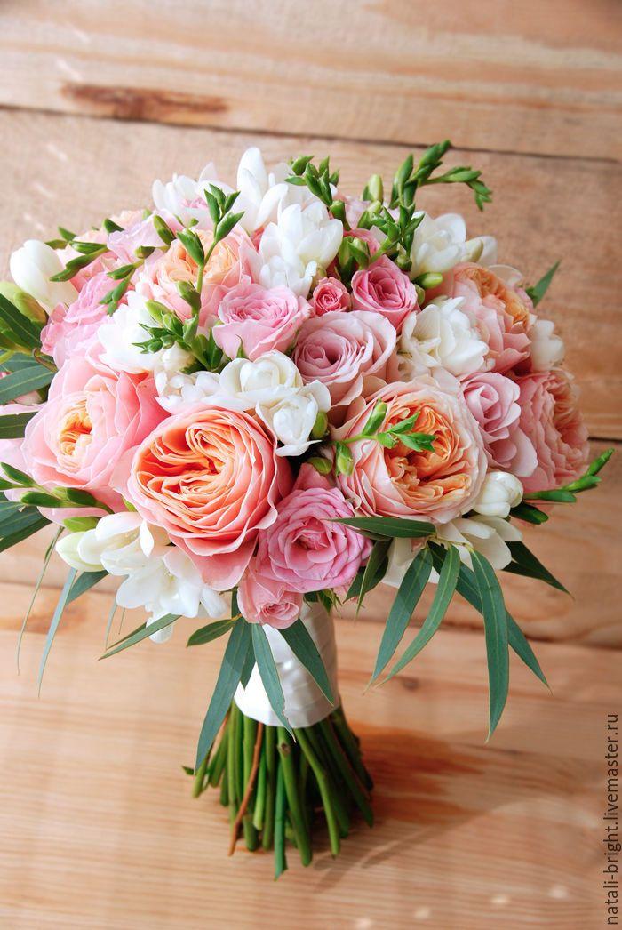 Современные букеты из живых цветов (15)