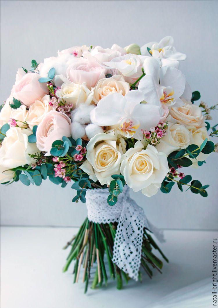 Современные букеты из живых цветов (18)