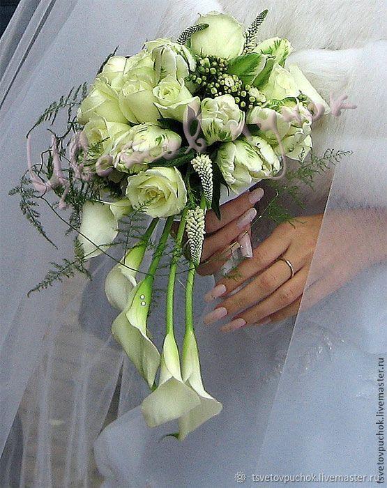 Современные букеты из живых цветов (19)