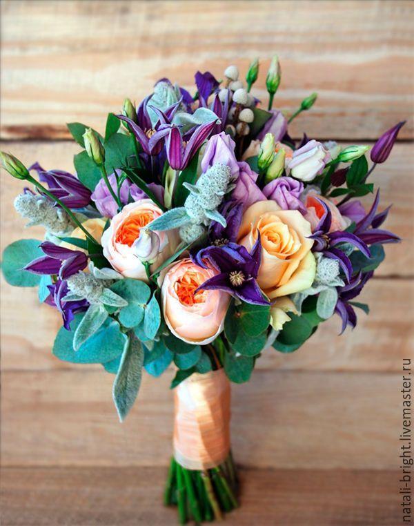 Современные букеты из живых цветов (8)