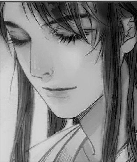 Черно-белые грустные картинки из аниме (25)