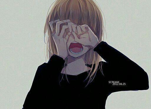 Черно-белые грустные картинки из аниме (31)