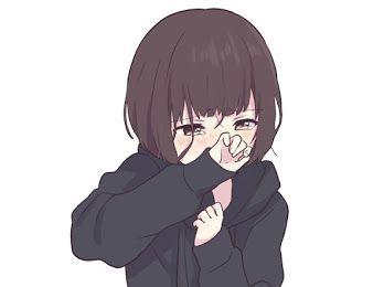 Черно-белые грустные картинки из аниме (5)