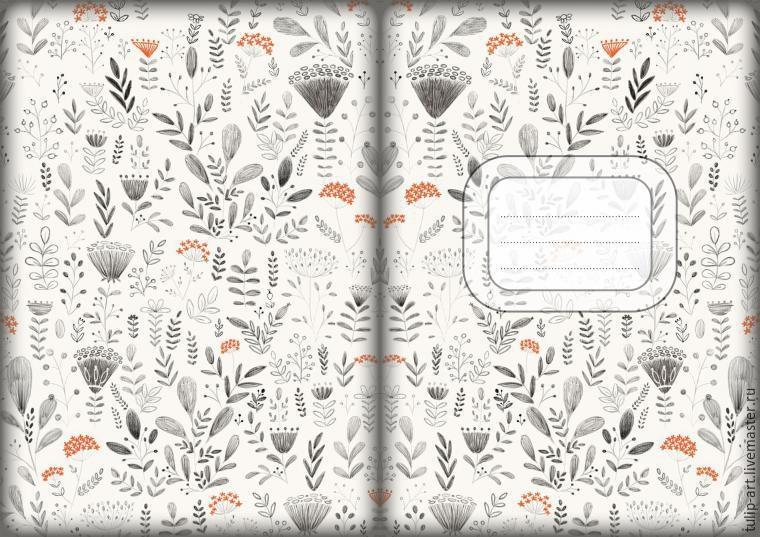 Черно белые распечатки на тетрадь в лучшем качестве (15)
