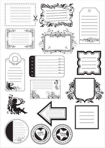 Черно белые распечатки на тетрадь в лучшем качестве (5)