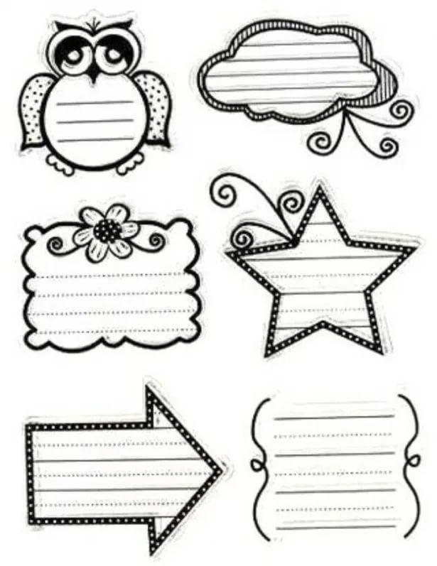 Черно белые распечатки на тетрадь в лучшем качестве (8)