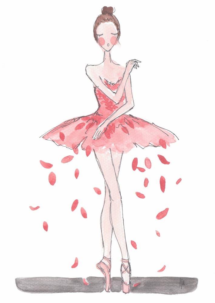 Балерина рисунок для детей (10)