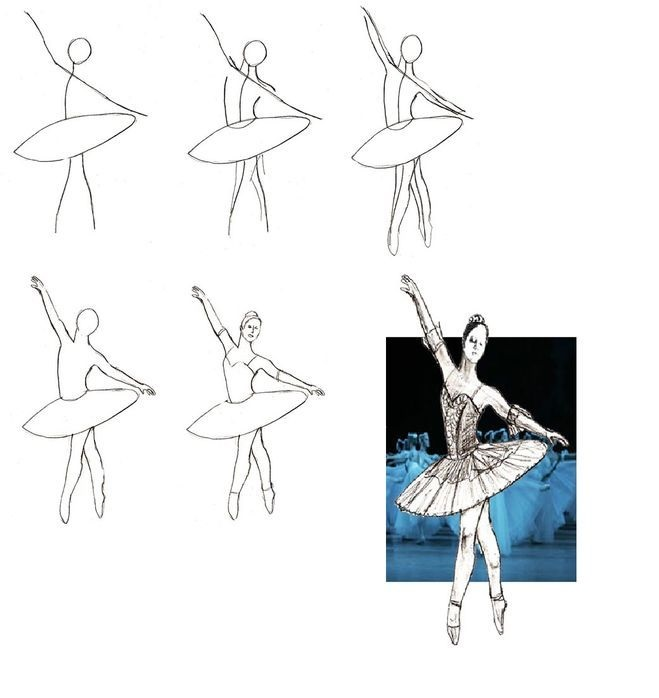 Балерина рисунок для детей (14)