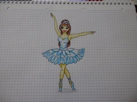 Балерина рисунок для детей (17)