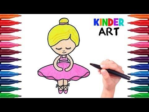 Балерина рисунок для детей (20)