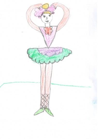 Балерина рисунок для детей (23)