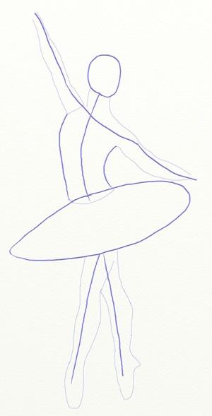 Балерина рисунок для детей (24)